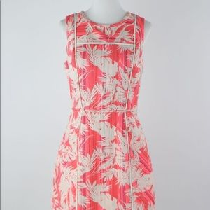 J. Crew Neon Pink Brocade Sheath Dress, sz 00